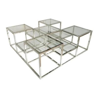 Atelier Silver Square Cocktail Table