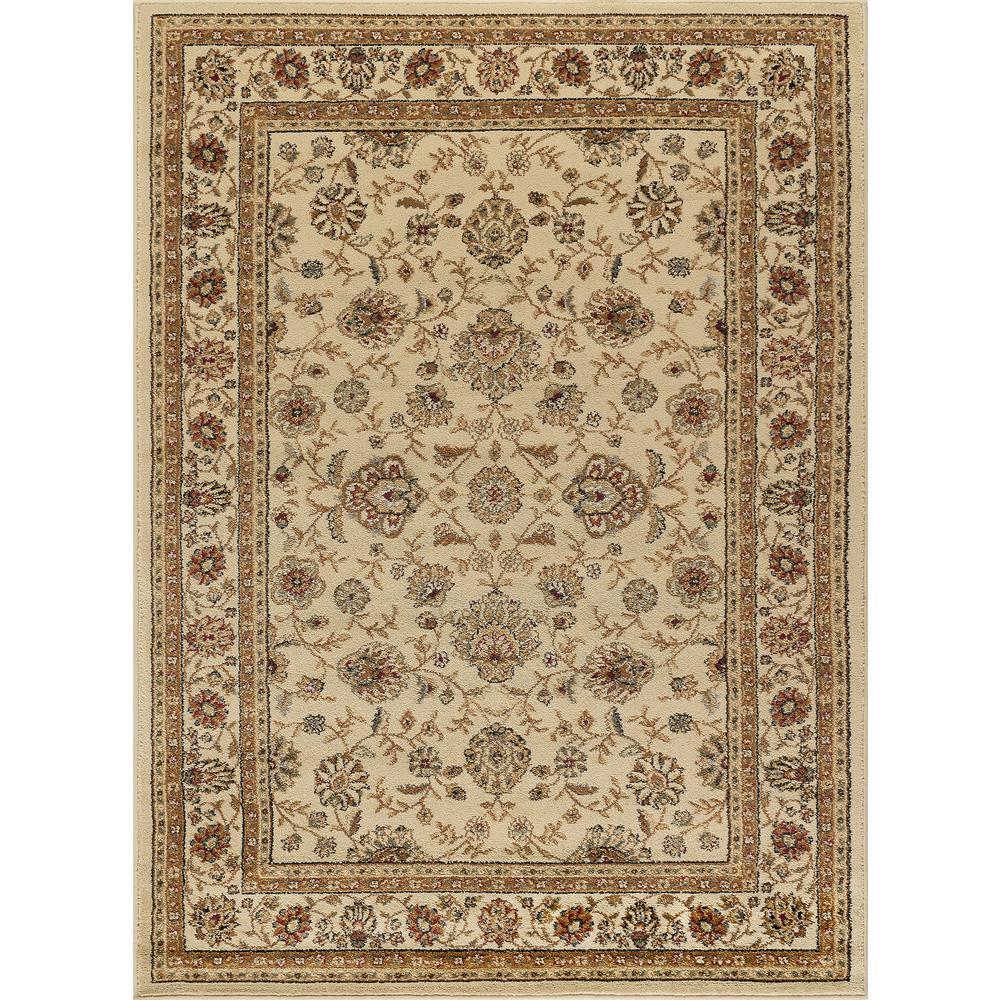 tayse rugs elegance ivory 5 ft x 7 ft traditional area rug elg5142 5x7 the home depot. Black Bedroom Furniture Sets. Home Design Ideas