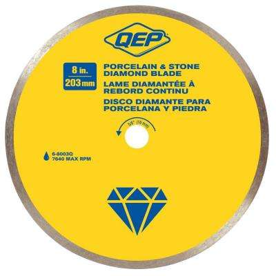 8 in. Premium Diamond Blade for Wet Cutting Porcelain and Ceramic Tile