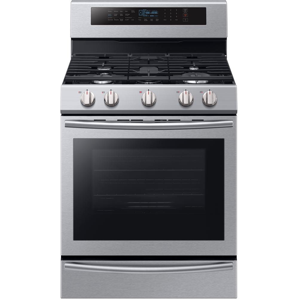 Samsung 30 In 5 8 Cu Ft Single Oven Gas Range With Self