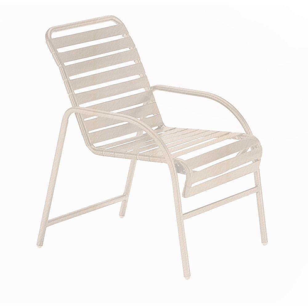 Tradewinds Milan Antique Bisque Commercial Patio Game Chair (2-Pack)