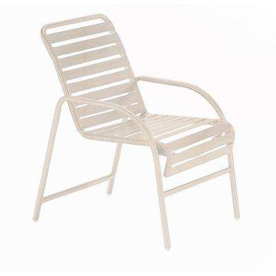 Milan Antique Bisque Commercial Patio Game Chair (2-Pack)