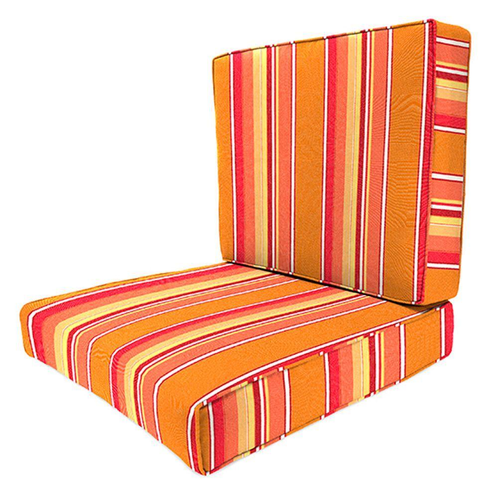Sunbrella Dolce Mango Outdoor Lounge Chair Cushion