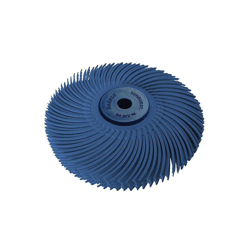 Dedeco Sunburst 3 in. 6-Ply Radial Discs 1/4 in. Fine 400-Grit Arbor Thermoplastic Cleaning and Polishing Tool