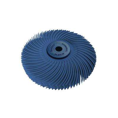 Sunburst 3 in  6-Ply Radial Discs 1/4 in  Fine 400-Grit Arbor Thermoplastic  Cleaning and Polishing Tool