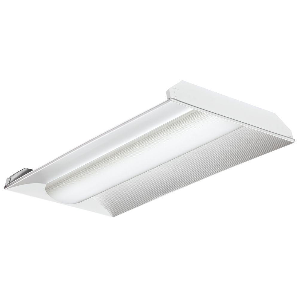 Lithonia Lighting 4 Ft 40 Watt White Integrated Led: Lithonia Lighting 46-Watt 4 Ft. Gloss White Integrated LED