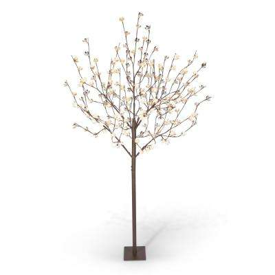 8 ft. Lit Cotton Blossom Tree with 224 Warm White LED Lights