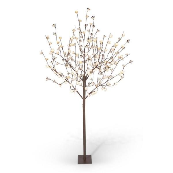 8 Ft Lit Cotton Blossom Tree With 224 Warm White Led Lights