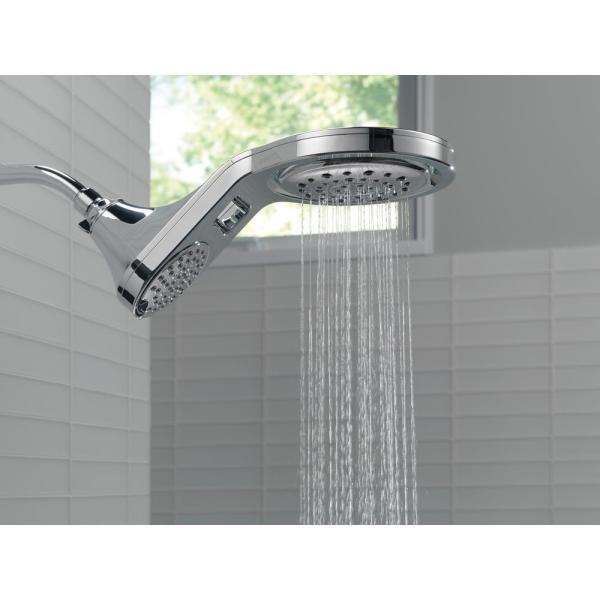 Delta Hydrorain Two In One 5 Spray 7 9 In Double Wall Mount Fixed