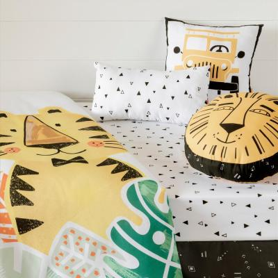 DreamIt 6-Piece Black and White Baby Tiger Twin Baby Bedding Set