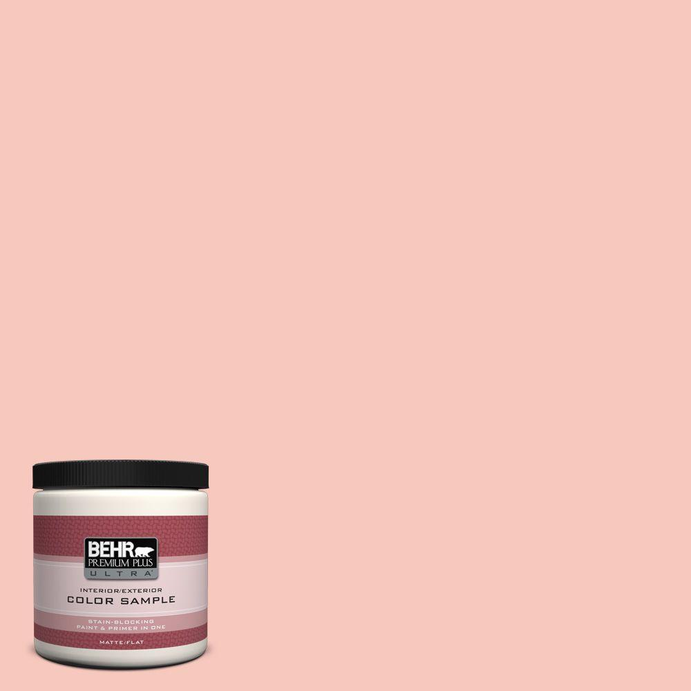 8 oz. #P180-2 Sherbet Fruit Matte Interior/Exterior Paint and Primer in