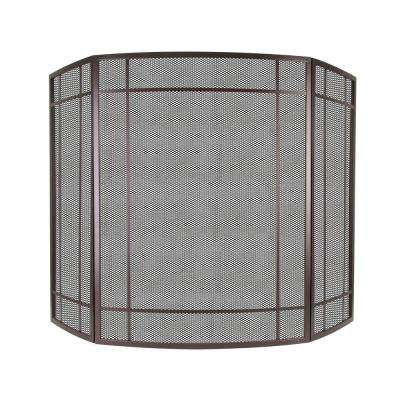 Asteria 3-Panel Fireplace Screen in Wenge
