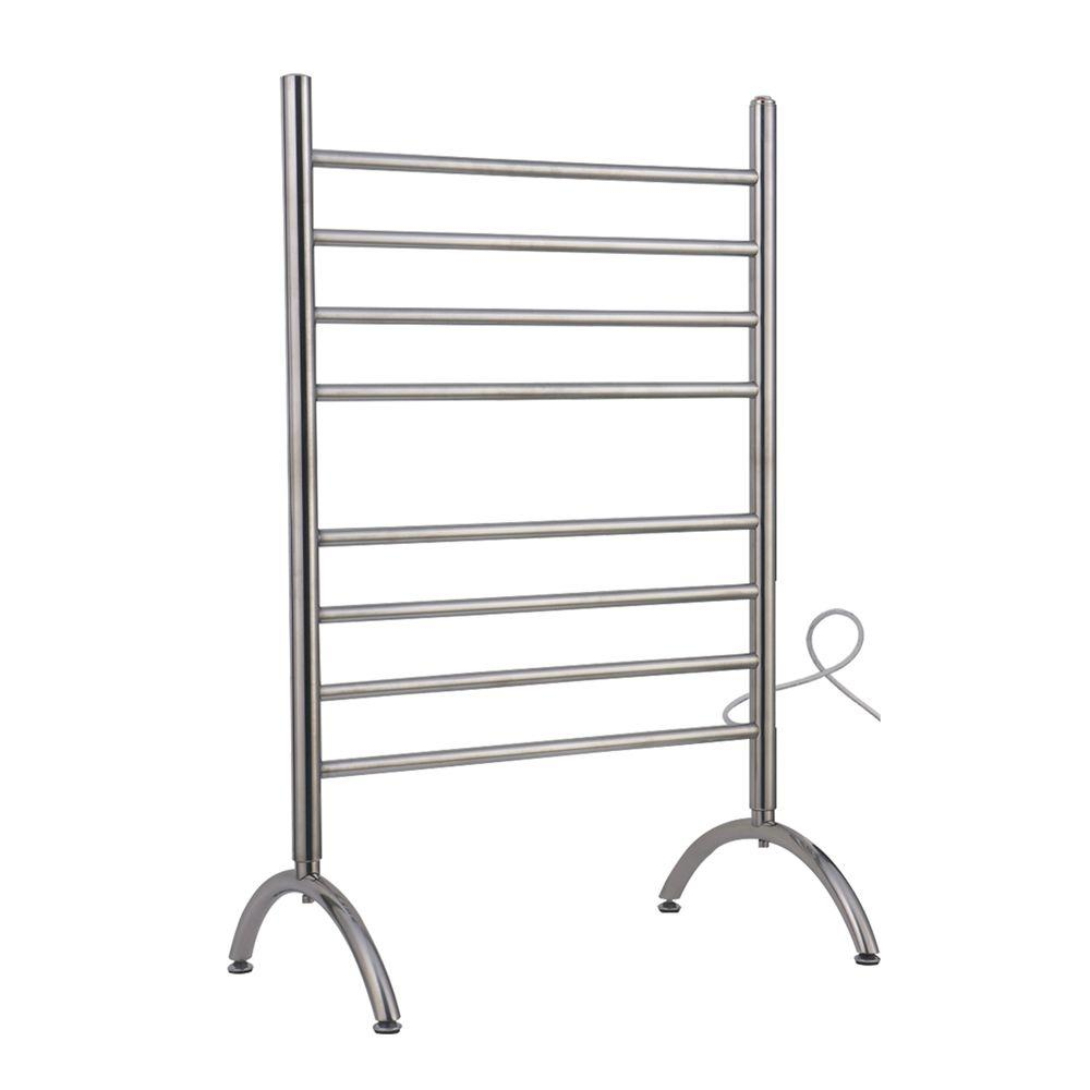 WarmlyYours Barcelona 37 in. Towel Warmer in Polished Stainless Steel
