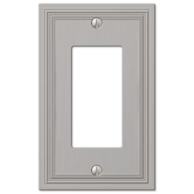 Hallcrest 1 Gang Rocker Metal Wall Plate - Satin Nickel