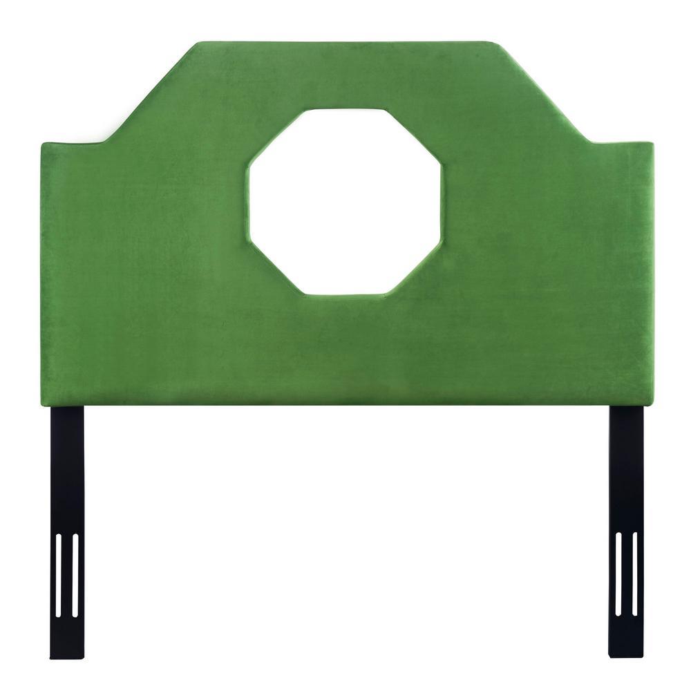 Noctis Green Velvet Full Headboard