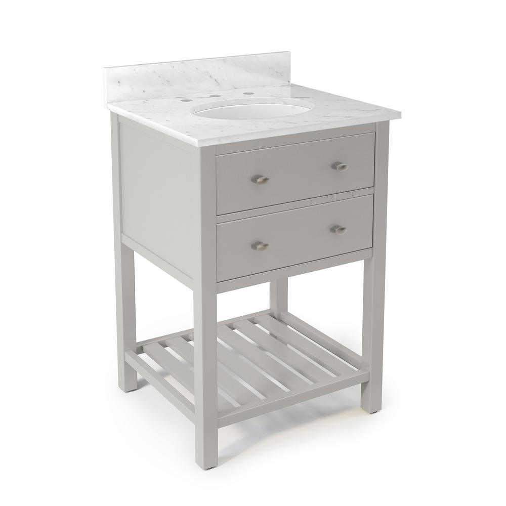 Harrison 25 in. W x 22 in. D Vanity in Gray