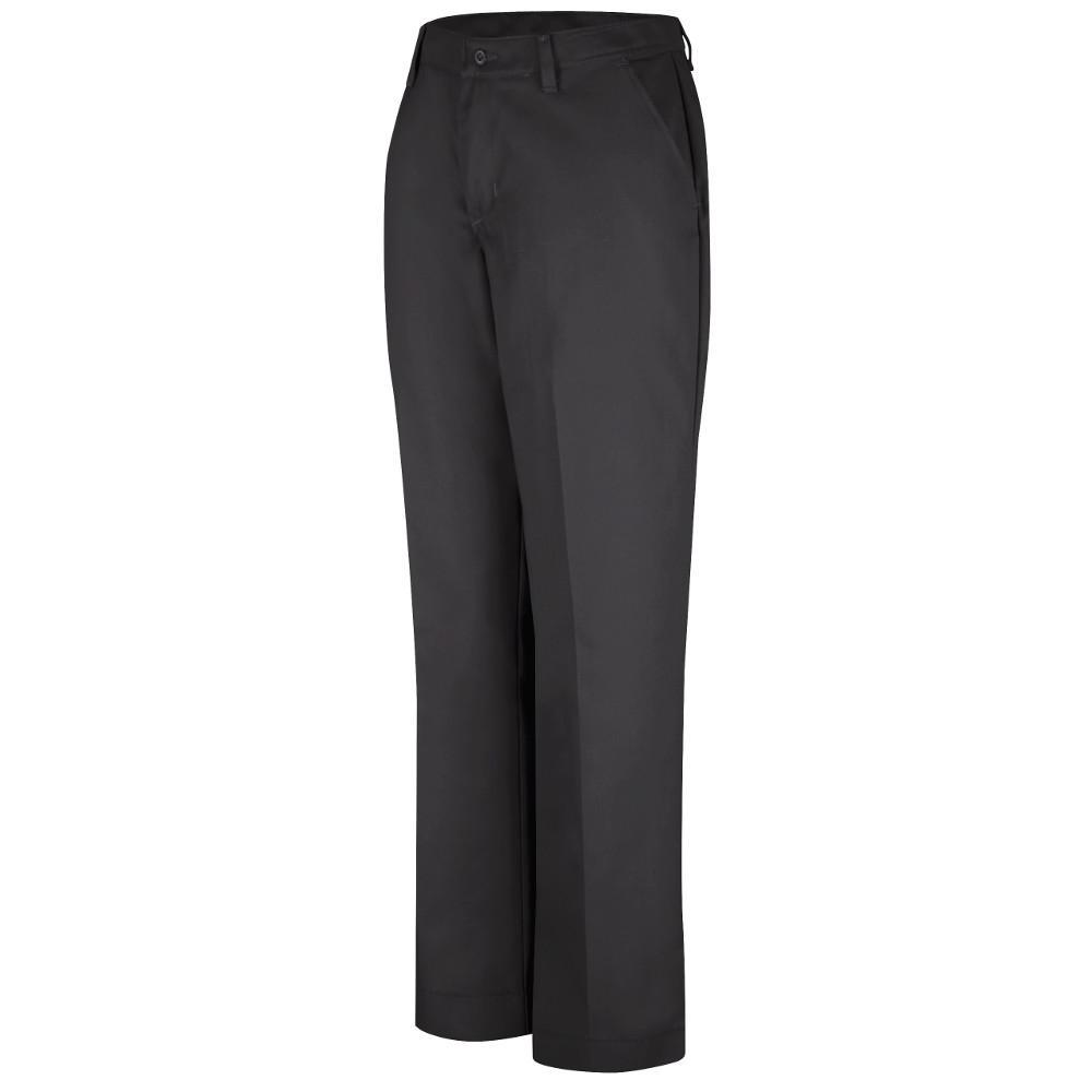 ca0baaf1dd3 Red Kap Women s Size 18 in. x 30 in. Black Industrial Pant-PT21BK 18 ...