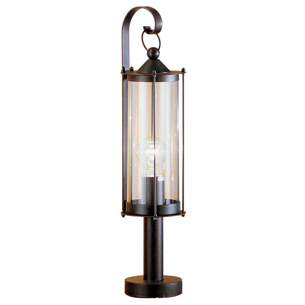 Eglo Cornwall 1-Light Outdoor Antique Brown Post Lamp-DISCONTINUED