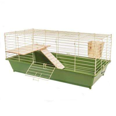 Natural's Rabbit Cage with Wooden Shelf and Ramp - 36 in. x 17.5 in. x 15.25 in