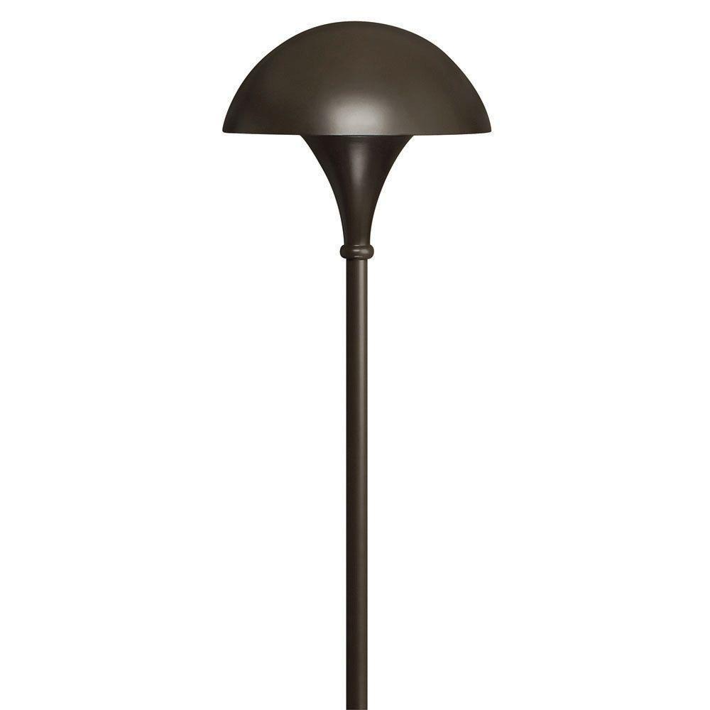 120-Volt Line-Voltage Bronze Mushroom Path Light