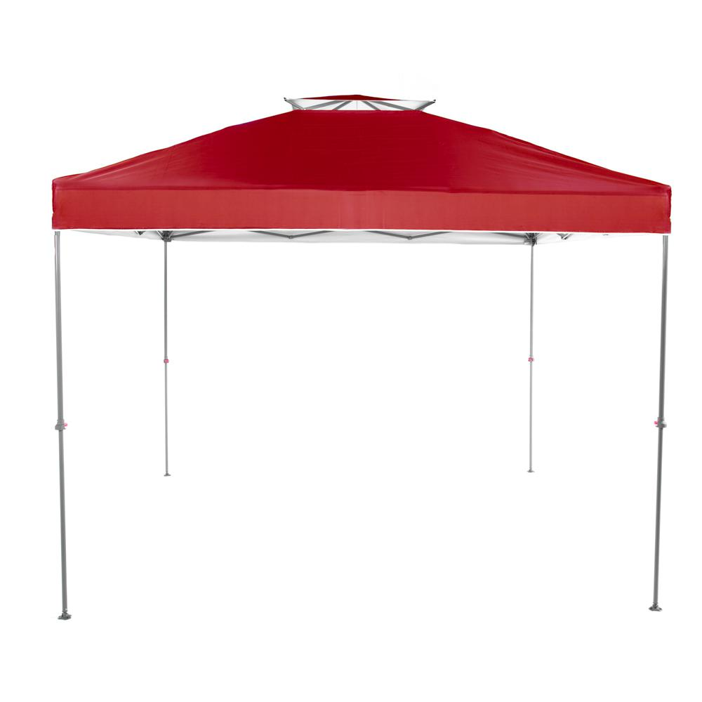 Red Instant Canopy Pop Up  sc 1 st  The Home Depot & Everbilt NS-100 10 ft. x 10 ft. Red Instant Canopy Pop Up Tent-NS ...