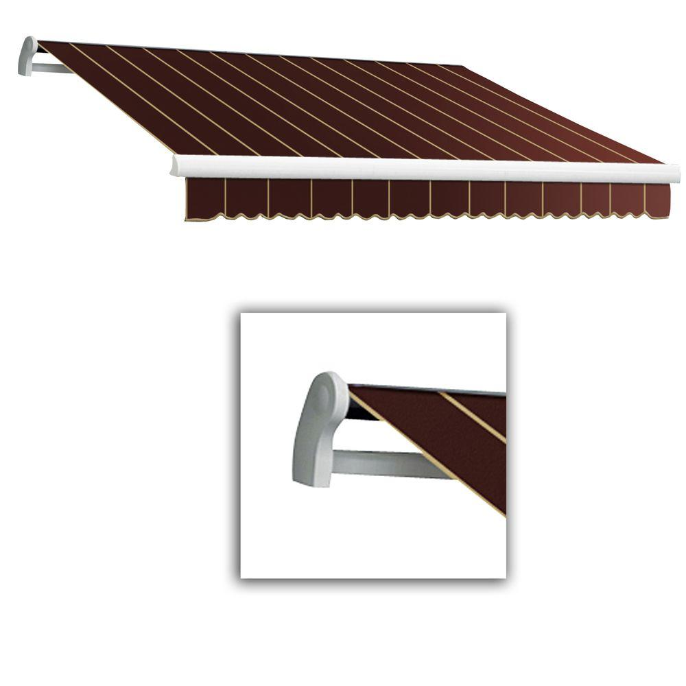 AWNTECH 18 ft. Maui-LX Left Motor Retractable Acrylic Awning with Remote (120 in. Projection) in Burgundy Pin