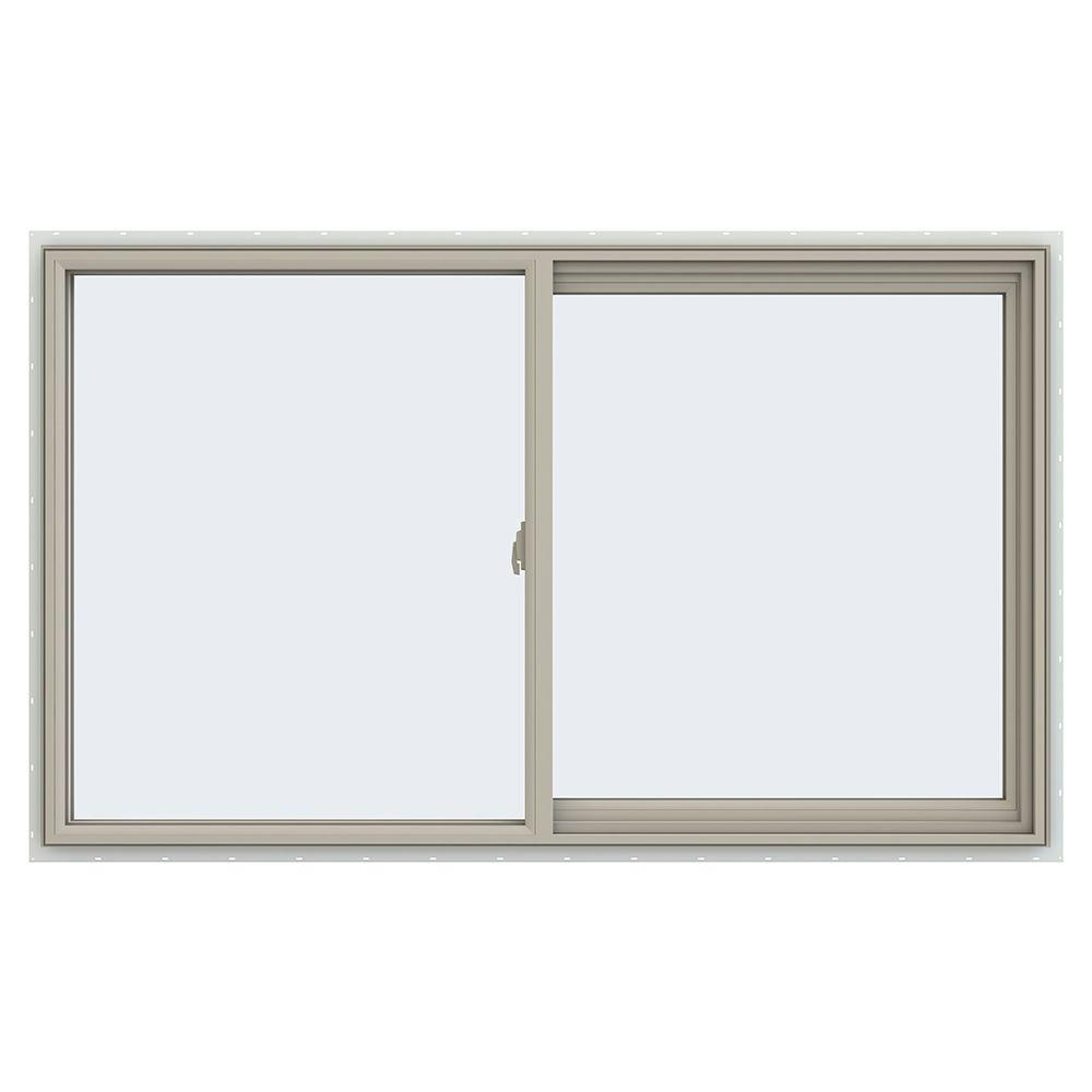 JELD-WEN 59.5 in. x 35.5 in. V-2500 Series Right-Hand Sliding Vinyl Window - Tan