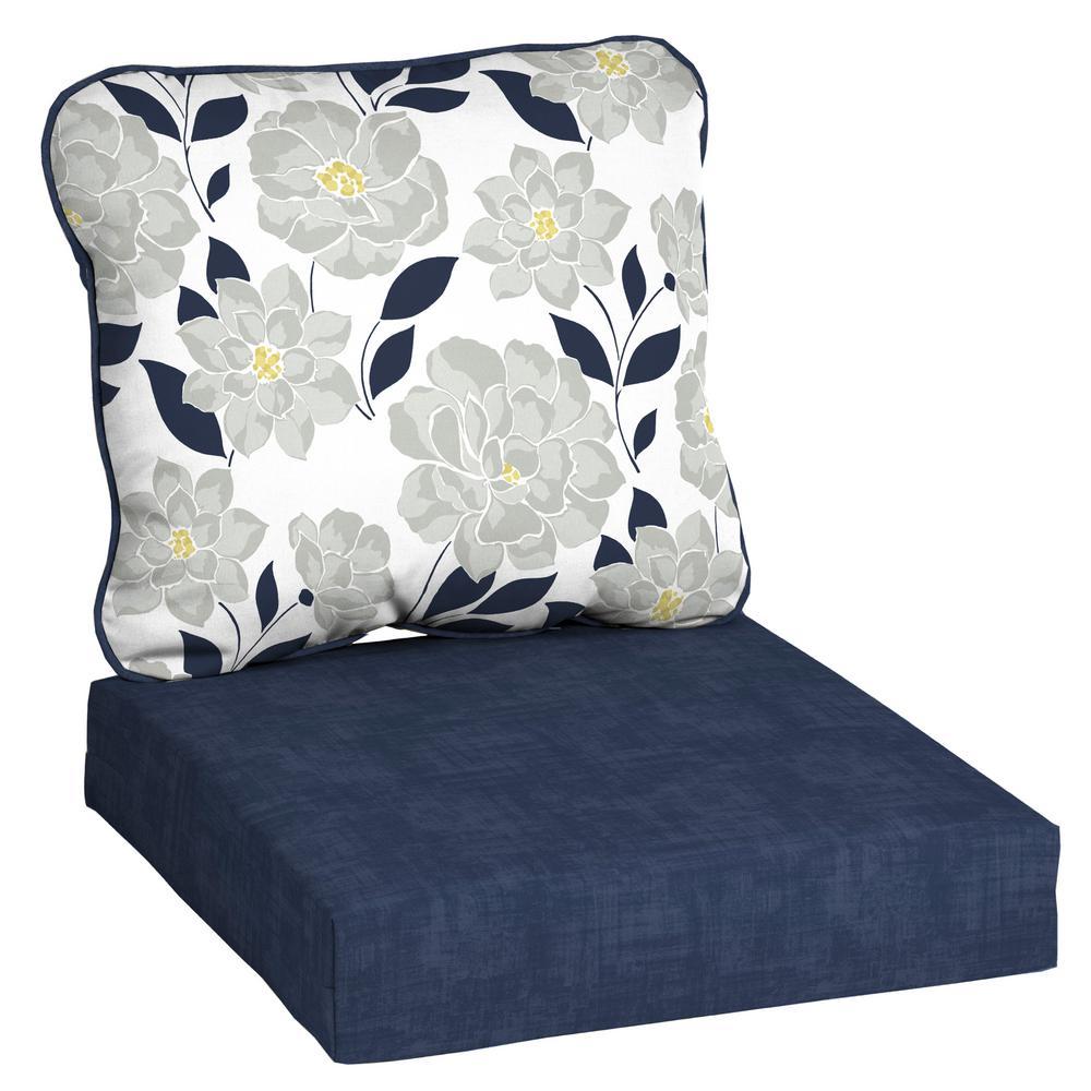 Hampton Bay Flower Show Deep Seating Outdoor Lounge Chair Cushion