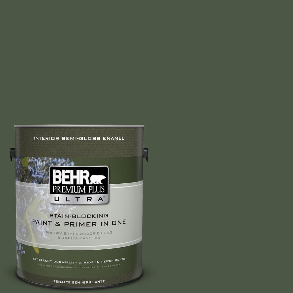 1-gal. #440F-7 Fresh Pine Semi-Gloss Enamel Interior Paint