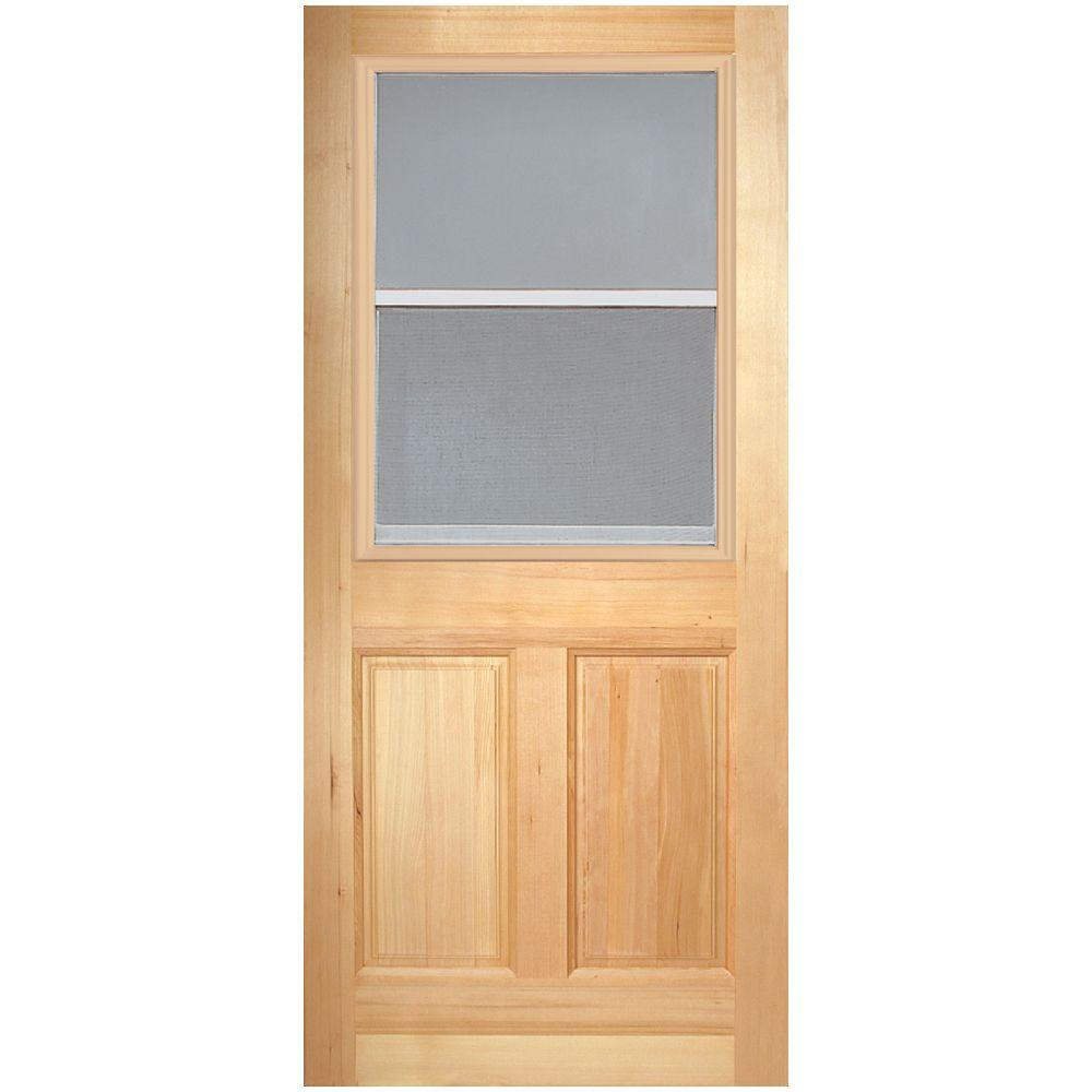 Masonite 32 in. x 80 in. Vent Lite 2-Panel Unfinished Fir Front  sc 1 st  The Home Depot & Masonite 32 in. x 80 in. Vent Lite 2-Panel Unfinished Fir Front Door ...