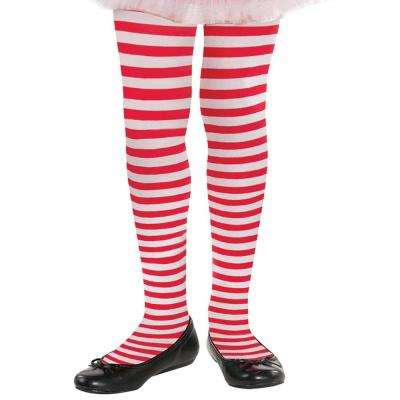 Child S/M Candy Stripe Christmas Tights (3-Pack)