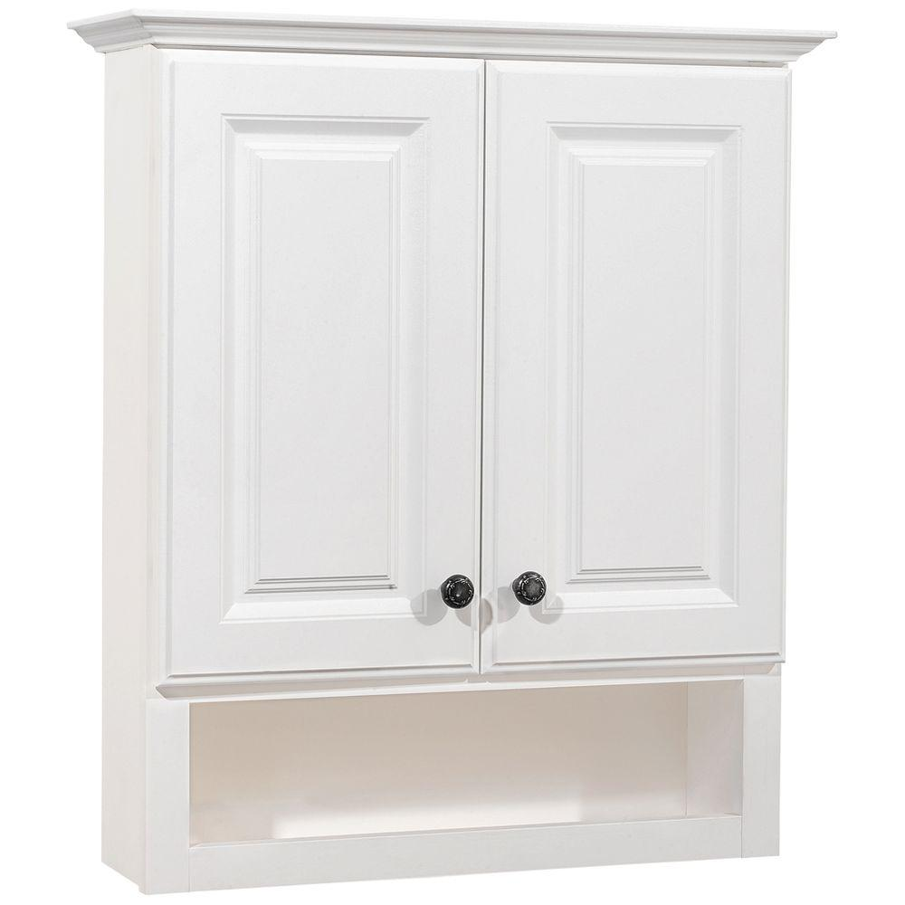American Classics Gallery 25 1/2 In. W X 29 In. H X 7 1/2 In. D Bathroom  Storage Wall Cabinet In White TTGS WH   The Home Depot