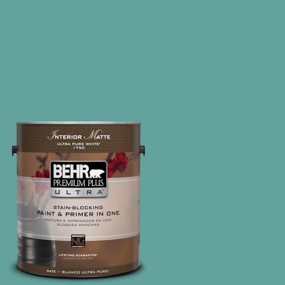 BEHR Premium Plus Ultra 1 gal. #M450-5 Aqua Rapids Matte Interior Paint
