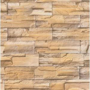 Decowall Madrid Bronze Brick Stone Peel and Stick 3D Effect Self Adhesive DIY Wallpaper by Decowall