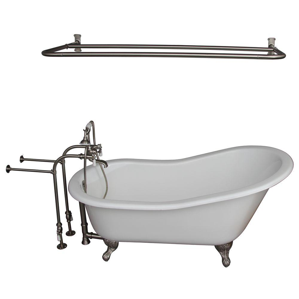 Barclay Products 5 ft. Cast Iron Ball and Claw Feet Slipper Tub in ...