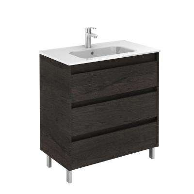 Sansa 32 in. W x 18 in. D Bath Vanity in Essence Wenge with Ceramic Vanity Top White