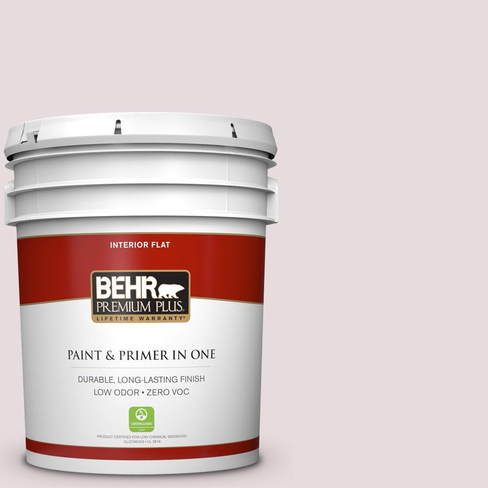 BEHR Premium Plus 5-gal. #100E-1 Coquette Zero VOC Flat Interior Paint