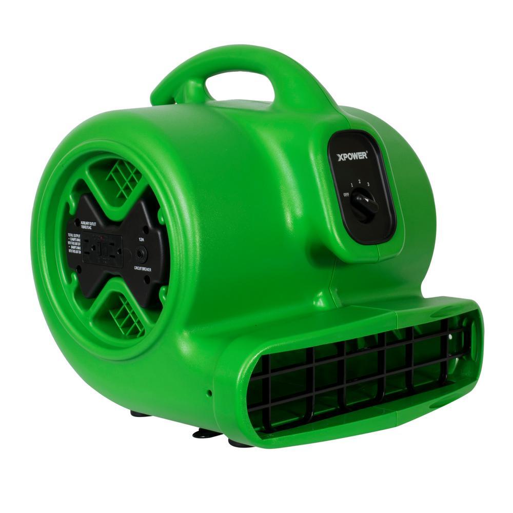 Xpower X 600a 1 4 Hp 1600 Cfm 3 Speed Air Mover Carpet