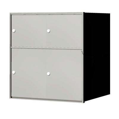 1,400 Series 4-Parcel Lockers Recessed Horizontal Mailbox