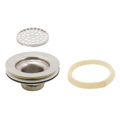 Basket Strainer with Grid Wide Flange 3-1/2 in. to 4 in. Chrome with Putty