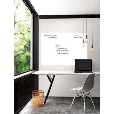 42 in. x 54 in. White Giant Dry Erase Decal