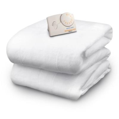 Natural 3.1 in. Twin Polyester Mattress Pad
