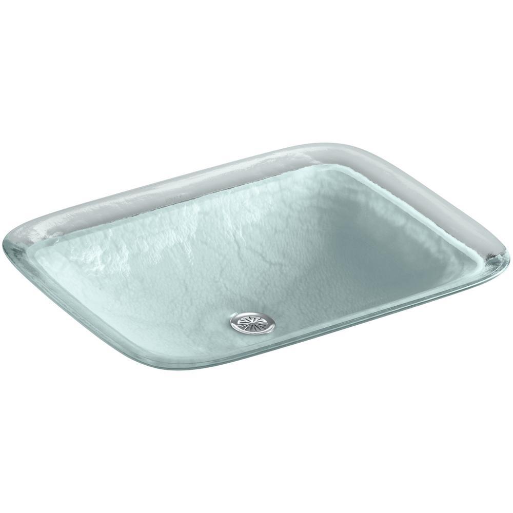 KOHLER Inia 20-5/8 in. Drop-In Bathroom Sink in Opaque Dew-K-2773-G2 ...
