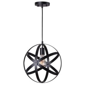 Home decorators collection 1 light black orb mini pendant with black metal strap design Home decorators collection mini pendant