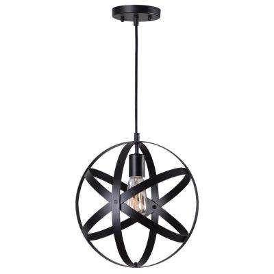 1-Light Black Mini Pendant