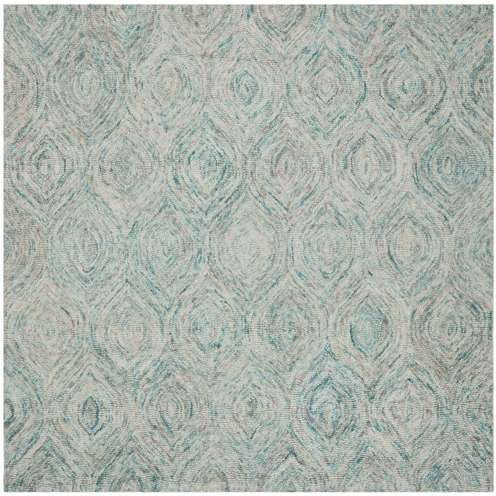 10 Foot Square Rug Part - 34: Safavieh Ikat Ivory/Sea Blue 4 Ft. X 4 Ft. Square Area Rug