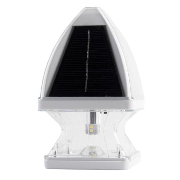 Gothic Solar White LED 4x4 and 5x5 Deck Post Light with Bright White and Warm White LEDs (2-Pack)