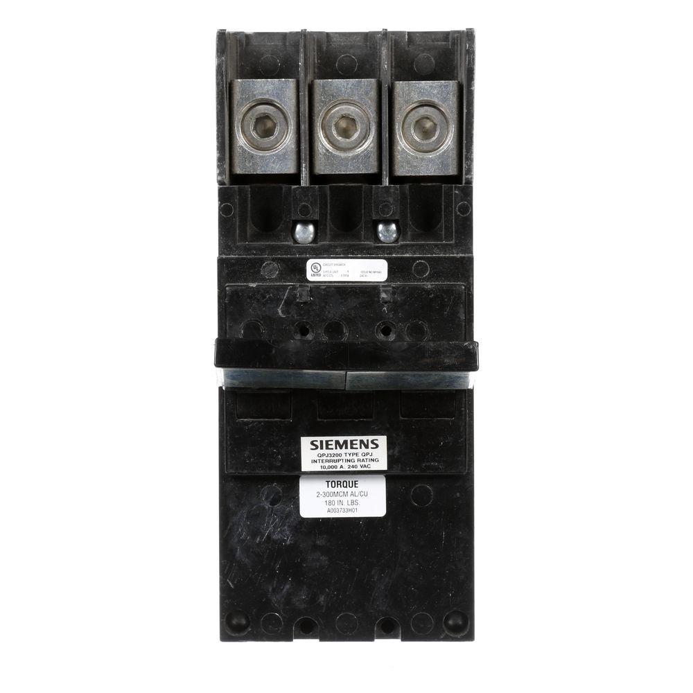 Siemens 200 Amp 3-Pole 10 kA Type QPJ Plug-In Circuit Breaker by Siemens