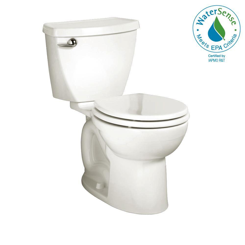 Cadet 3 Powerwash 2-piece 1.28 GPF Single Flush Round Toilet in White