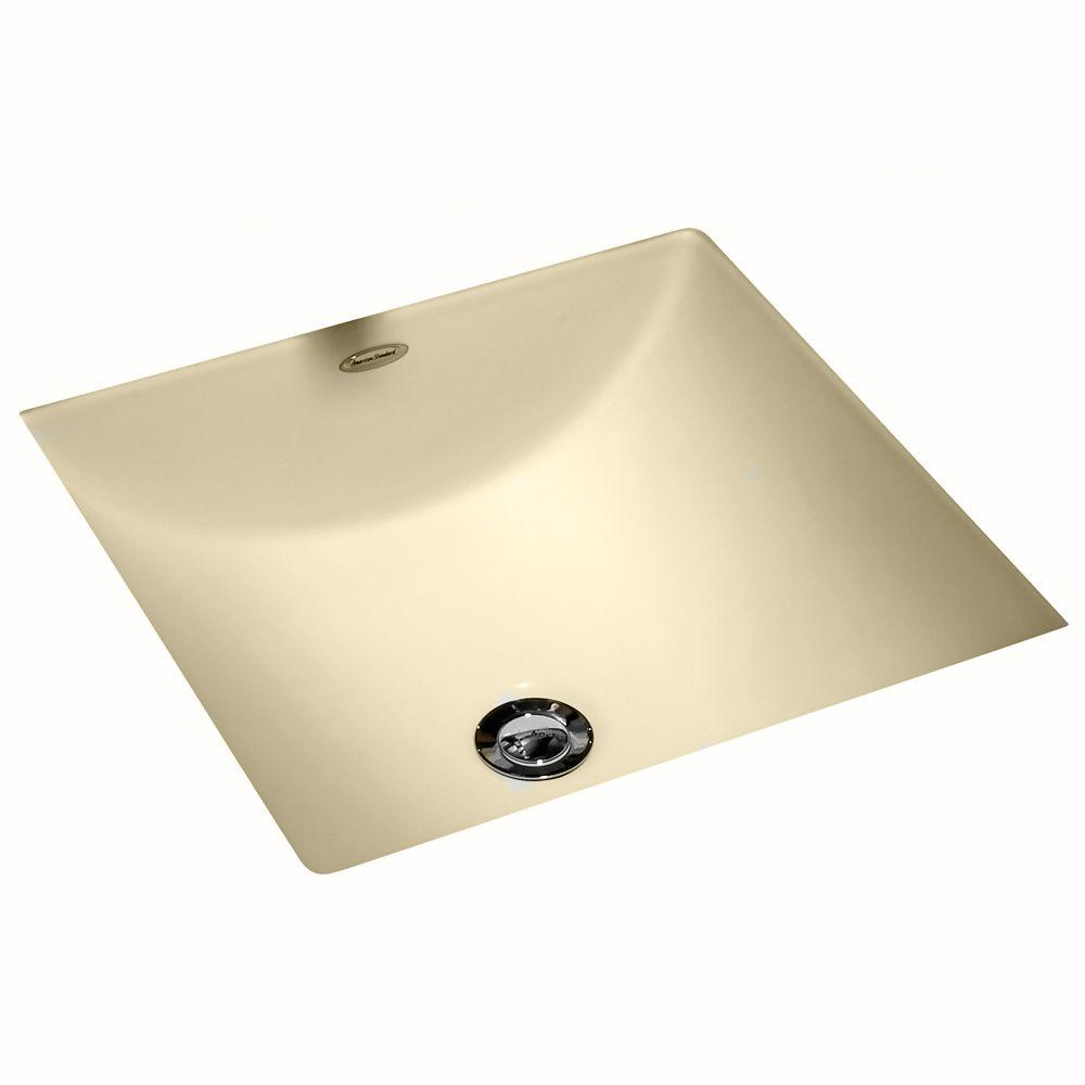 undermount square bathroom sink. American Standard Studio Carre Square Undercounter Bathroom Sink With Less Faucet Deck In Bone-0426000.021 - The Home Depot Undermount K